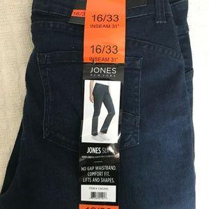 Jones New York Women's Slim Fit Stretch Blue Denim